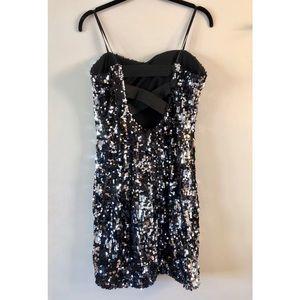 City Studio Dresses - Strapless Juniors Sequined Dress